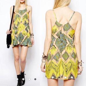 Somedays Lovin Modern Love Ikat Print Sundress
